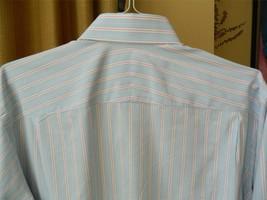 ROBERT TALBOTT Shirt Stripes Light Blue White L - €51,85 EUR