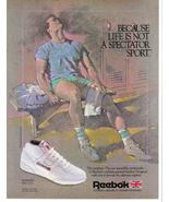 1985 Reebok Magazine Print Ad Because Life Is Not A Spectator Sport - Ne... - $4.95