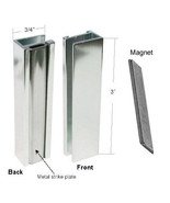 Bright Chrome Shower Door U-Channel with Metal Strike and Magnet - Set - $19.75