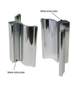 Bright Chrome Frameless Shower Door Handle with Metal Strike - $17.95