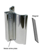 Bright Chrome Frameless Shower Door Handle with Metal Strike and Magnet ... - $39.95