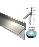 Chrome Framed Shower Door Replacement Bottom Deflector with Vinyl Sweep ... - $29.95