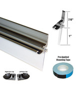"Chrome Framed Shower Door Replacement Drip Rail with Vinyl Sweep - 32"" Long - $29.95"