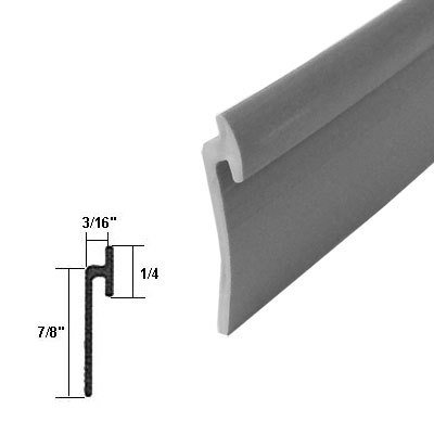 Angled Gray Vinyl Framed Shower Door Drip Rail 50 Ft