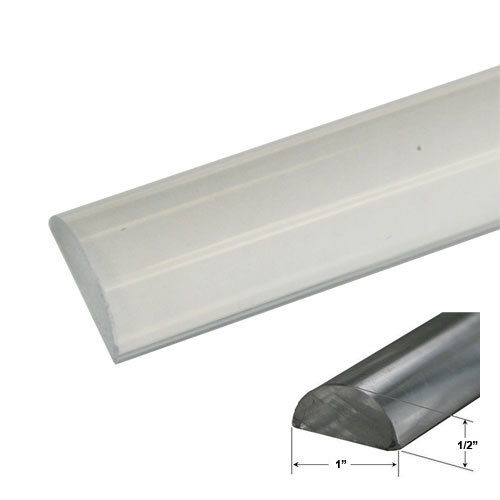 "Primary image for 1"" Clear Acrylic Frameless Shower Threshold - 72 in long"