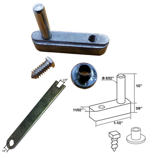 "Primary image for Framed Swing Shower Door Pivot Block with 1/2"" Pin and Adjustment Wrench Kit"