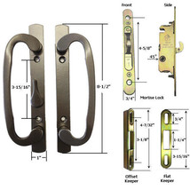 Sliding Glass Patio Door Handle Kit with Mortise Lock w/ Faceplate and Keeper, B - $54.95