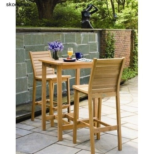 Bars, Patio Furniture, Dartmoor 3 Piece Bar Dining Set by Oxford Garden