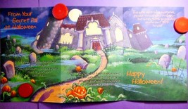 Vintage Halloween Secret Pal TriFold Haunted House, Greeting Card, Mint,... - €5,96 EUR