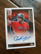 2019 Topps On Demand London Autograph Auto Card Christian Vazquez Red Sox /50 - $59.99