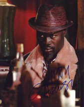 Djimon Hounsou AUTHENTIC Autographed Photo COA SHA #66359 - $40.00
