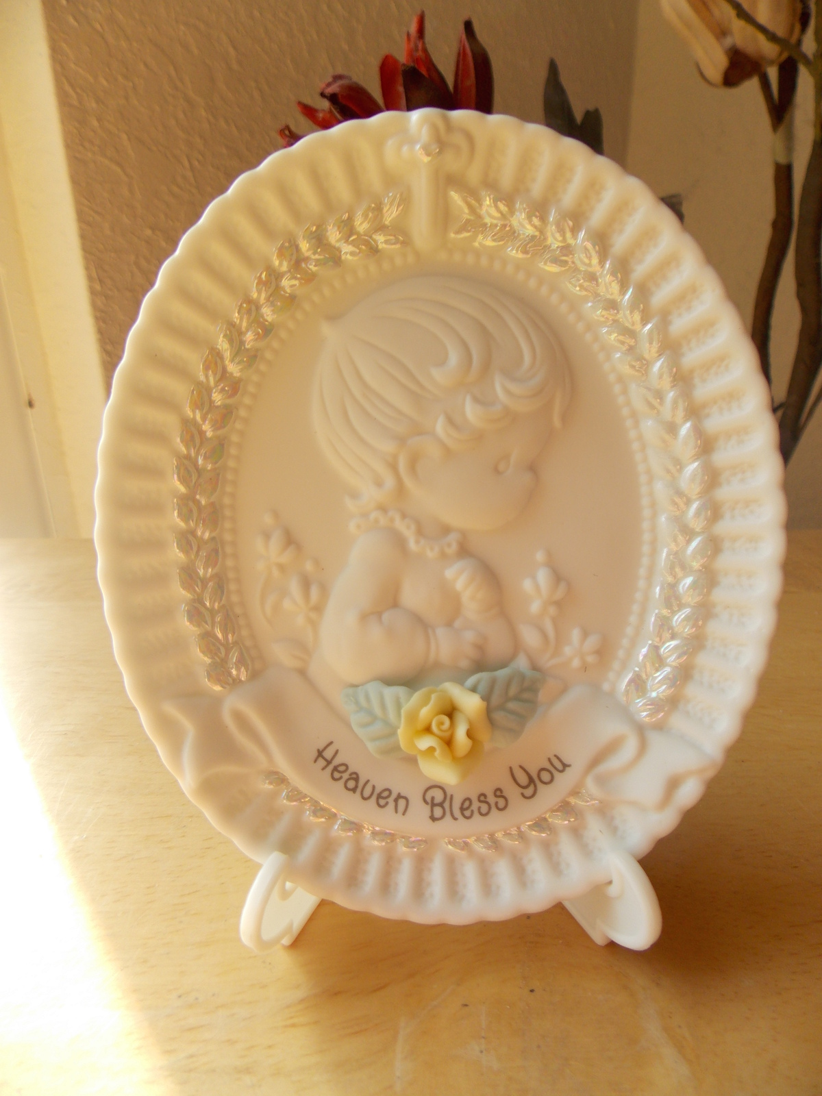 """1995 Precious Moments Baptism Plate """"Heaven and 20 similar items"""