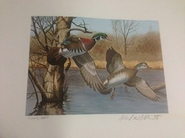 1983 New Hampshire First of State S/N Duck Stamp Print + Mint Stamp - $165.00