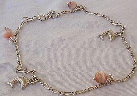 Mini dolphins silver pink anklet 1 thumb200