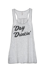 Thread Tank Day Drinkin Women's Sleeveless Flowy Racerback Tank Top Spor... - $24.99+
