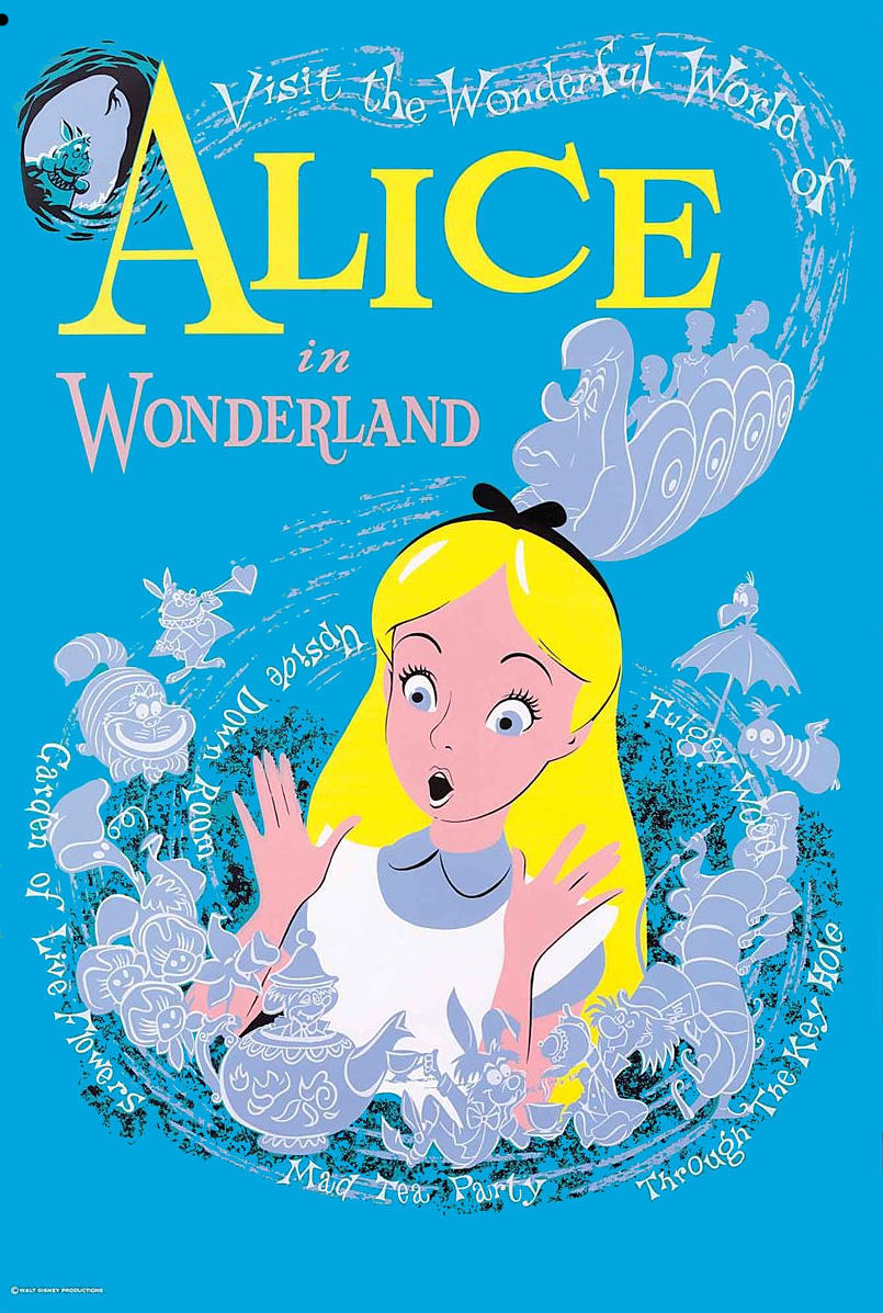 Alice in wonderland disneyland poster 1958