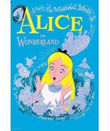 Alice in Wonderland Poster Vintage Disneyland 1958  - $14.99