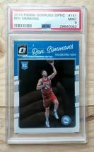 2016 Panini Donruss Optic Ben Simmons #151 Rc Rookie Card Psa 9 Mint Sixers - $64.99