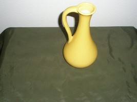 Vintage Mustard Yellow Pottery Pitcher Small - $48.51