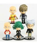 5pcs/set One Punch Man Saitama Genos Tatsumaki Garou Q Version PVC Figur... - $28.59