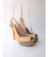Platform Pumps HeelsSlingbacks  Vince Camuto Leala Patent Leather 10B $1... - $31.68