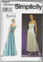 Uncut Begotten Prom Dress or Costume Pattern Simplicity 8983 Juniors 3 4... - $19.66