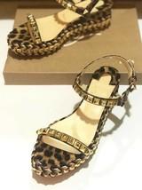 Christian Louboutin Brown Leopard Cataclou 60MM Sandals New - $839.00