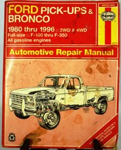 Haynes Ford Pickups & Broncos 1980-1996 2wd & 4wd Book Used - $5.89