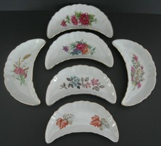 Antique Bone Dishes Chadwick CMI Japan Floral w/Gold Trim Set of 6 - $23.36