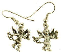 Vintage Sterling Cherub Cupid Putti Cherub Bow & Arrow Drop French Wire ... - $44.99
