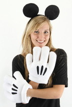 Walt Disney's Mickey Mouse Ears and Gloves Licensed Costume Accessory NE... - $28.98