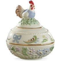 Lenox 2015 Rooster Easter Egg Box Opens Regal Chicken Flowers Animal NEW... - $50.00