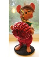 """ANNALEE 7.5"""" 2008 Mouse With Christmas Ornament ADORABLE - $12.95"""