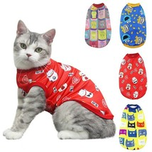 New Year Pet Cat Shirt Dress Puppy Summer Vest T-Shirt Apparel Costume C... - $6.00