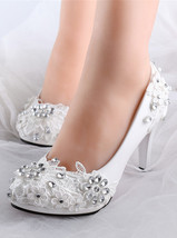 Vintage Wedding Bridal Shoes Sparkling Lace Bridal Heels.Fantasy Bridal ... - $38.00