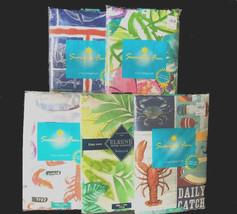 Vinyl Tablecloth Beach House Palm Hibiscus Lobster Nautical NEW U CHOOSE... - $19.55 - $22.52