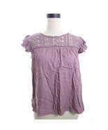 Forever 21 Purple Mauve Crochet Top Small - $18.00
