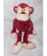 Babystyle Monkey Plush Stuffed Animal Burgundy Red Tan Floppy Arms Legs ... - $24.63