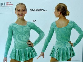 Mondor Model 2769 Girls Skating Dress - Icy Mint Size Child 10-12 - $70.00