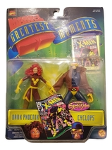 Marvel X-Men Dark Phoenix and Cyclops Action Figures Greatest Moment 1999 - $49.64
