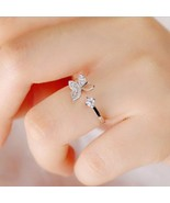 [Jewelry] Woman Butterfly Silver Plated Ring for Best Friend/Friendship ... - $8.99