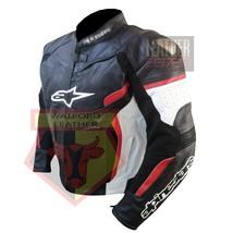 ALPINESTARS BLACK WATERPROOF COWHIDE LEATHER MOTORBIKE MOTORCYCLE ARMORE... - $279.99