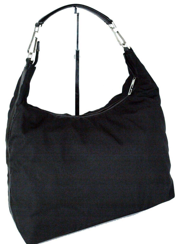 eeafa2189d4 Authentic Gucci Black Nylon Fabric   Leather and 50 similar items