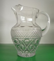 Imperial Glass CAPE COD 72-oz Pitcher with Ice Lip Elegant Crystal Retired - $87.07