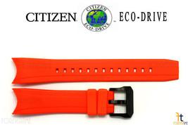 Citizen Eco-Drive E168M-S078466 23mm Orange Rubber Watch Band Strap - $89.95