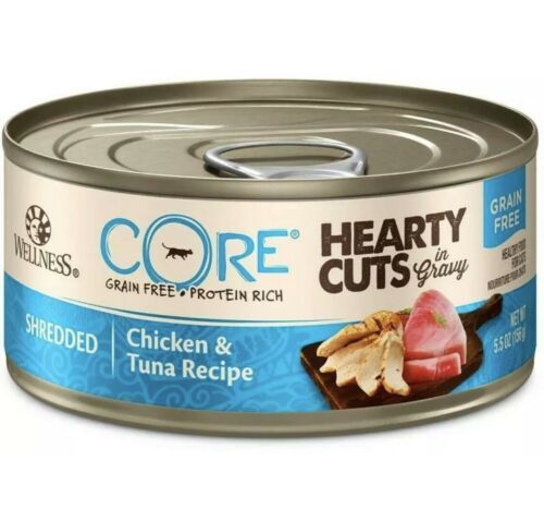 Wellness CORE Natural Grain Free Hearty Cuts Chicken and Tuna Canned Cat Food - $22.28