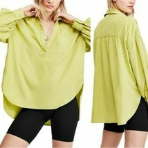 FREE PEOPLE LOVE UNTIL TOMORROW PULLOVER SHIRT NWT SIZE S GREEN - $33.87