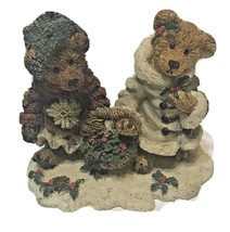 Boyds Bear Edmond and Bailey Gathering Holly - Issued 1994  Retired 2000 - $14.02