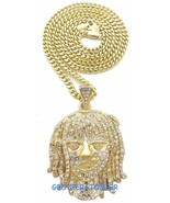 Esskeetit Pump Necklace New Iced Out Pendant With 24 Inch Long Cuban Cha... - $26.04