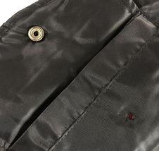 Men's Premium Water Resistant Zip Up Flight Black Bomber Jacket w/ Defect - 3XL image 4